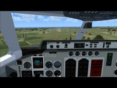 BAe 146 landing at Wick (EGPC) Cockpit view FSX
