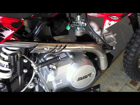 110CC SSR Dirt Bike Pit Motorcycle kick start problem