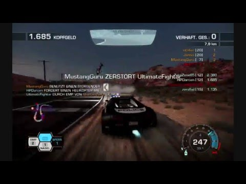 Need for Speed Hot Pursuit Online Race Bugatti Veyron 16.4 Cop