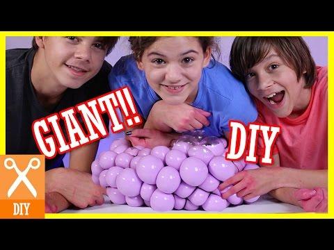 DIY GIANT SQUISHY SLIME STRESS BALL!! Bubble or Infectious disease stress ball!    KITTIESMAMA