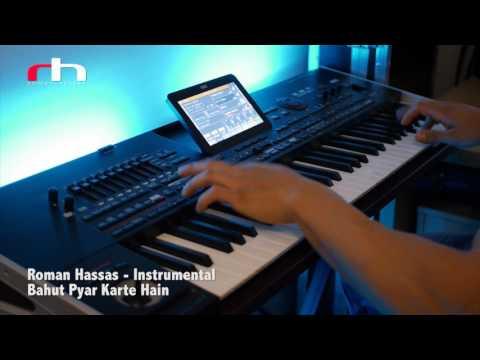 Roman Hassas Instrumental Keyboarding - Bahut Pyar Karte Hain