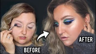 BLUE & GREEN GLAM TRANSFORMATION