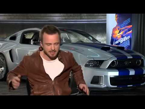 ▶ Aaron Paul Interview   Need for Speed   YouTube 360p