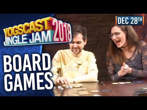 BOARD GAMES w/ LEWIS. SJIN. MARK HULMES & MORE - YOGSCAST JINGLE JAM! - 28th December 2018