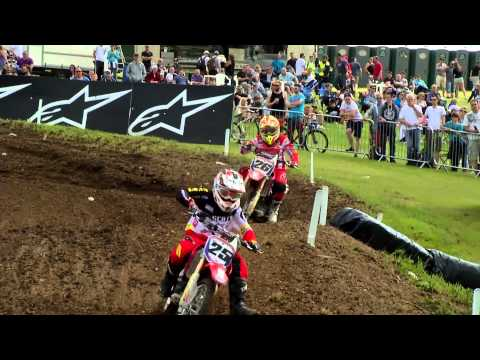 EMX 150 Round of Great Britain race 1 highlights - motocross 2015