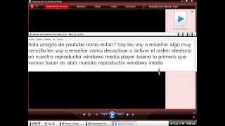 como activar o desactivar el orden aleatorio de nuestro reproductor windows media player