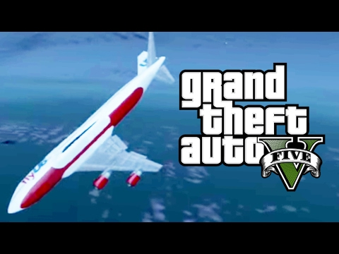 Huge Plane Falling into The Deep Ocean GTA 5