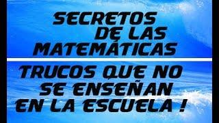 Matemáticas básica! El secreto de las matemáticas que no te enseñan en la escuela!