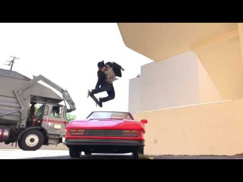 Skateboarding Over A Ferrari