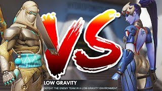 OVERWATCH BOYS VS GIRLS LOW GRAVITY CUSTOM GAME!!