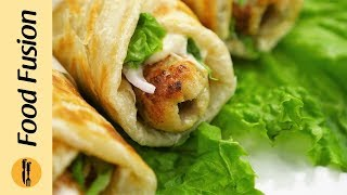 Mayo Garlic Seekh Paratha Roll Recipe By Food Fusion