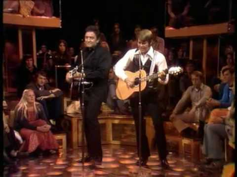 Glen Campbell & Johnny Cash - Folsom Prison Blues (Live Goodtime Hour)
