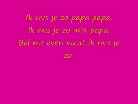 Laura Omloop - Ik mis je zo papa lyrics.