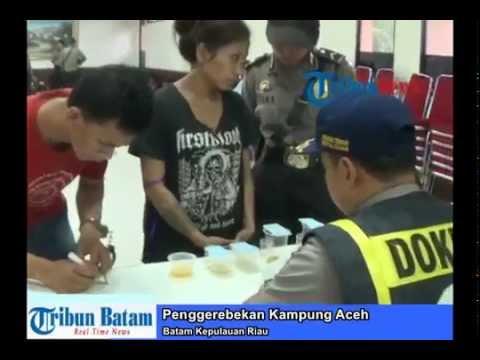 Kampung Aceh Batam Digerebek, 56 Orang Positif Narkoba