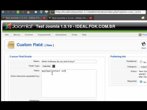 Contact Enhanced Installation - Joomla