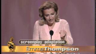 "Emma Thompson winning an Oscar® for ""Sense and Sensibility"""