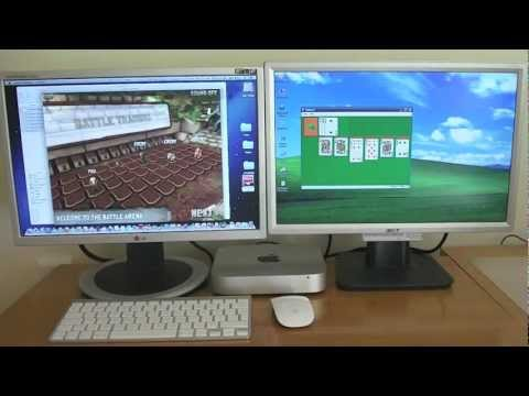 Mac mini (mid 2011) Dual Monitor on OS X 10.8 Mountain Lion. running Windows XP simultaneously