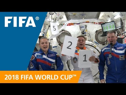 2018 FIFA World Cup Official Emblem Debuts in Space!
