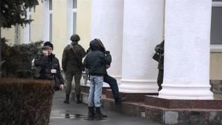 Armed men patrol at Simferopol's airport