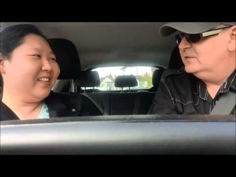 TING TING TAKING A DRIVING TEST WITH CELEBRITY DRIVING INSTRUCTOR GAZ REYNOLDS