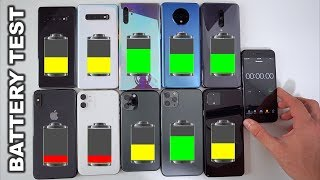 The 2019 ULTIMATE Battery Drain Test Comparison - Top 10 Phones
