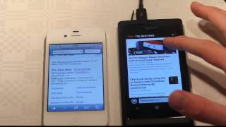Apple iPhone 4S vs. Nokia Lumia 800 Browser Speed Test Part 3 (HD)! Hands-On Review!