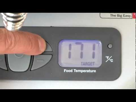 Setting The Target Temperature - Char-Broil TRU-Infrared Big Easy 2-in-1 Electric Smoker &amp; Roaster