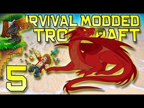 Minecraft: Modded Tropicraft Survival Lets Play w Mitch Ep. 5 Big Boss Dragon Smaug