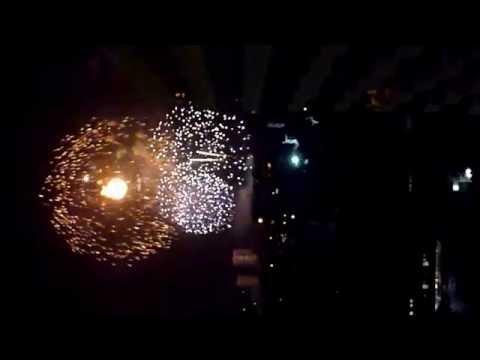 Fireworks from Star Beach Condominiums, Pattaya, Thailand