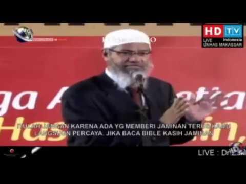SUBHANALLAH anak kecil ini masuk Islam - Zakir NAik