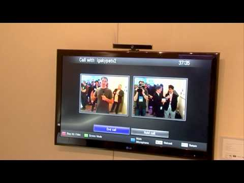 Skype on LG TV at CES 2010