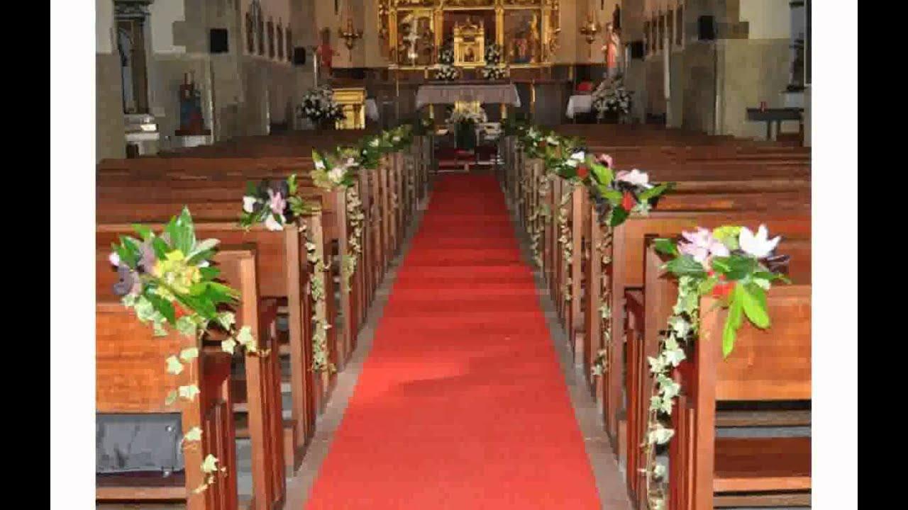 Flores para iglesia boda youtube for Sillas para iglesias en monterrey
