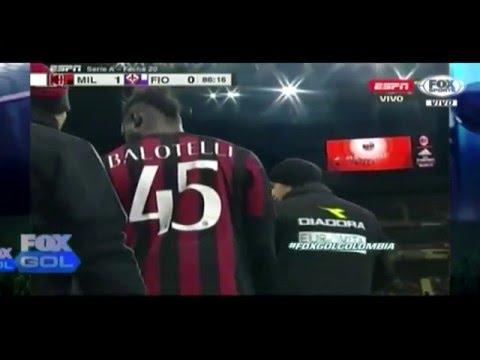 Highlights Footbals Ac Milan 2 - 0 Fiorentina 18 January 2016