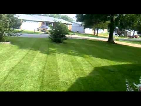 Homemade Grass Striper - On Smaller Lawn