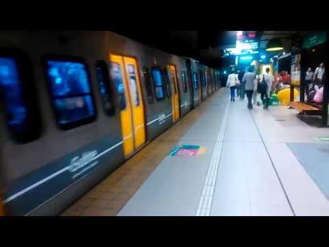 Subte Línea D - Formación Alstom B partiendo de Plaza Italia