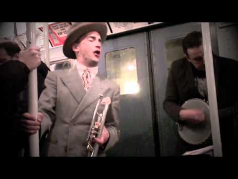 Drew Nugent Midnight Society play on Vintage Subway Car