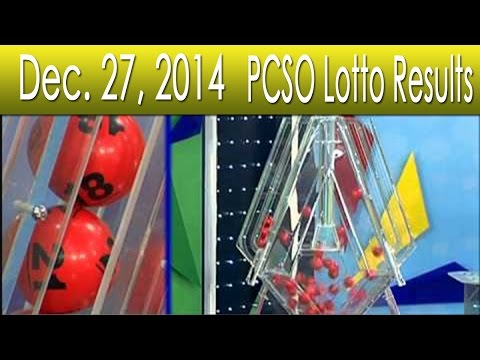 December 27 2014 PCSO Lotto Results 6 55 6 42 6D EZ2 Swertres