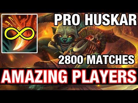 AMAZING PLAYERS - PRO HUSKAR - 2800 MATCHES - Dota 2