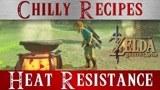 Zelda Breath of the Wild **Heat Resistance Boost Recipes Meals ** BOTW