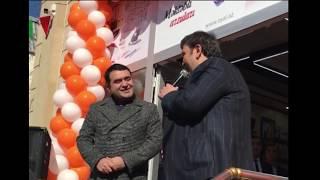 Rovsen  Azer Xanlaroglu Zenfira  Elmeddin Gencede Ofisait magazasinin acilisi