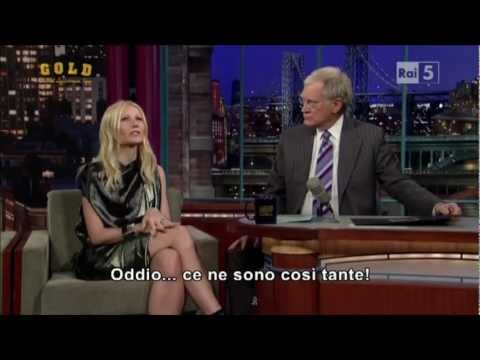 Gwyneth Paltrow al David Letterman Show
