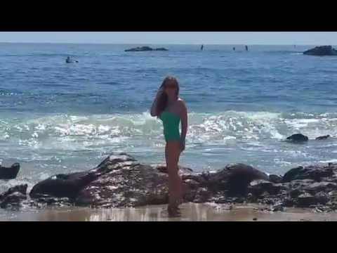My pretty girlfriend in Laguna Beach