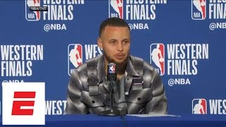 Steph Curry on wild celebration in Game 3 against Rockets: 'I blacked out' | ESPN