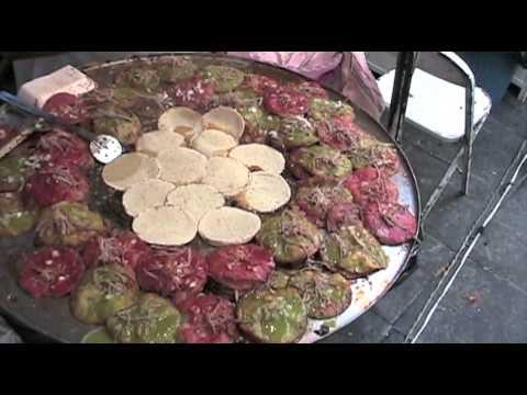 Street Food Vendors at Puebla City Independence Day Celebration