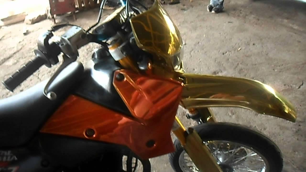 Chrome Dirt Bike Plastics Spray on Chrome Dirt Bike 1