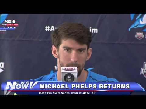 FNN: Michael Phelps swims in Mesa