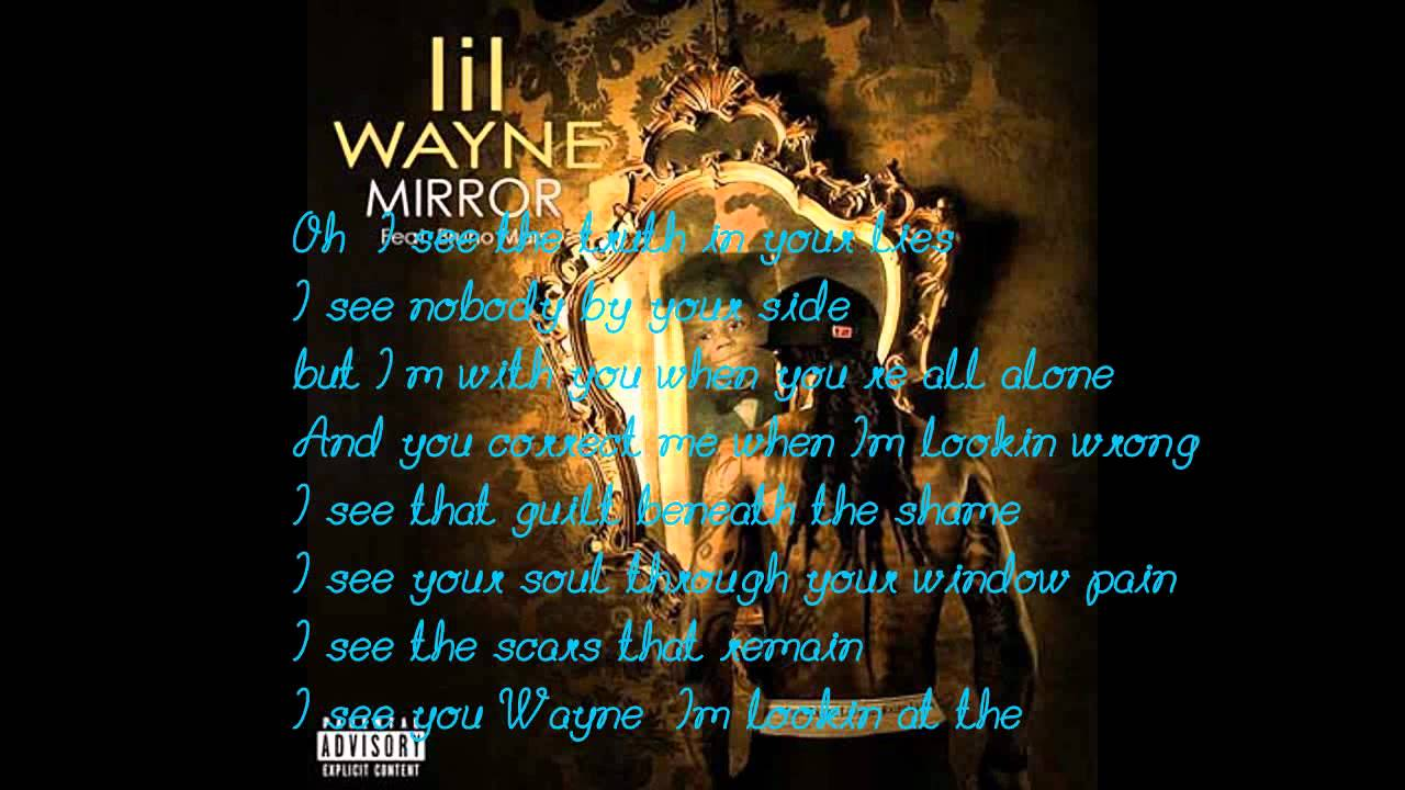Hq lil wayne mirror on the wall lyrics youtube for Mirror mirror lyrics