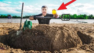 I Found LOST TREASURE While Metal Detecting At The BEACH! ($10,000 TREASURE FIND!)