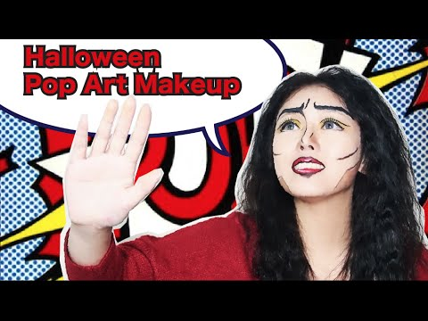 萬聖節卡通漫畫人妝 ✿ Halloween PopArt Makeup