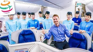 KLASSE! Xiamen Airlines Business Class 787-9 | GlobalTraveler.TV